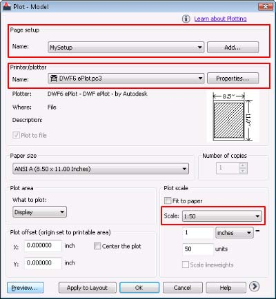Drawing Setup in AutoCAD 2011