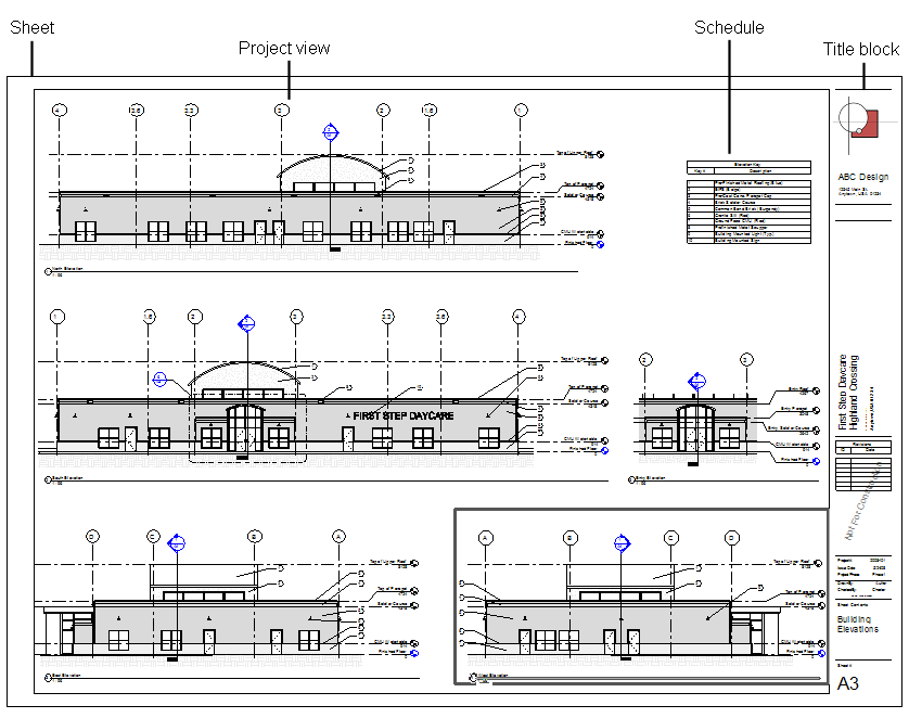 Revit Building Elevation : Sheets overview